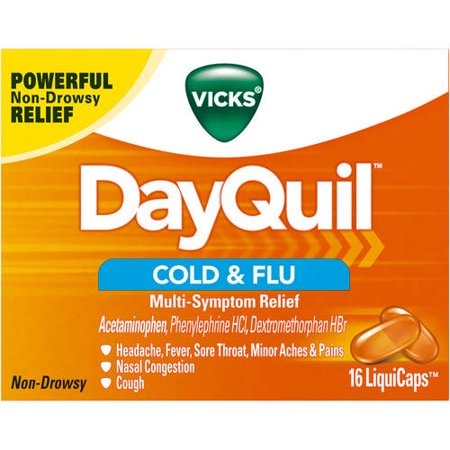 Vicks Dayquil Cold   Flu Multi Symptom Relief Liquicaps 16 Ct
