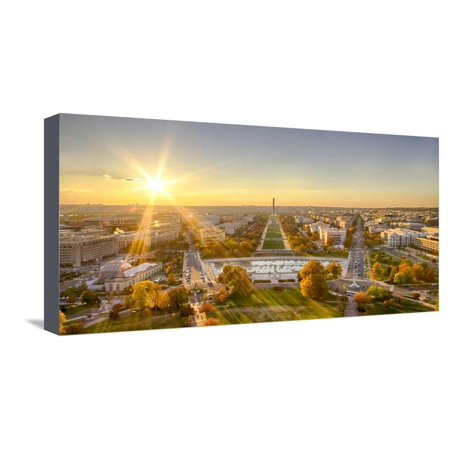 USA, Washington DC. Autumn sunset over the National Mall. Stretched Canvas Print Wall Art By Christopher (Sunset Mall Location)