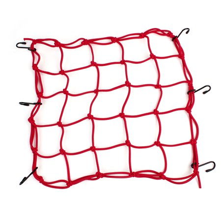 Unique Bargains Universal Elastic Stretchy 6 Hook Package Luggage Flexible Net for Motorcycle ()
