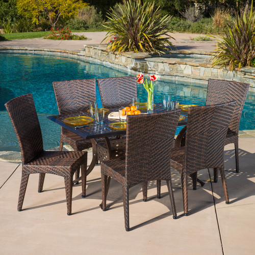 Highland Dunes Ulrey 7 Piece Dining Set
