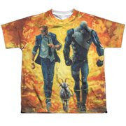 Quantum And Woody Fire It Up (Front Back Print) Big Boys Sublimation Shirt