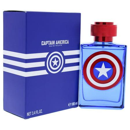 Marvel  Captain America for Kids 3.4-ounce Eau de Toilette (Spray 3.4 Ounce Kiss)