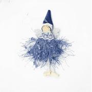 Christmas Wool Angel Doll Pendant Cute Mini Angel Girl Christmas Tree Hanging Ornaments Creative Christmas Decoration