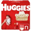 HUGGIES Little Snugglers Diapers, Size Newborn, 84 Count
