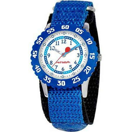 Red Balloon Boys' Stainless Steel Watch, Blue Strap