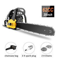 COOCHEER 3.5HP Guide Board Chainsaw Gasoline Powered Handheld Chain Saw 58CC/62CC Engine HFON