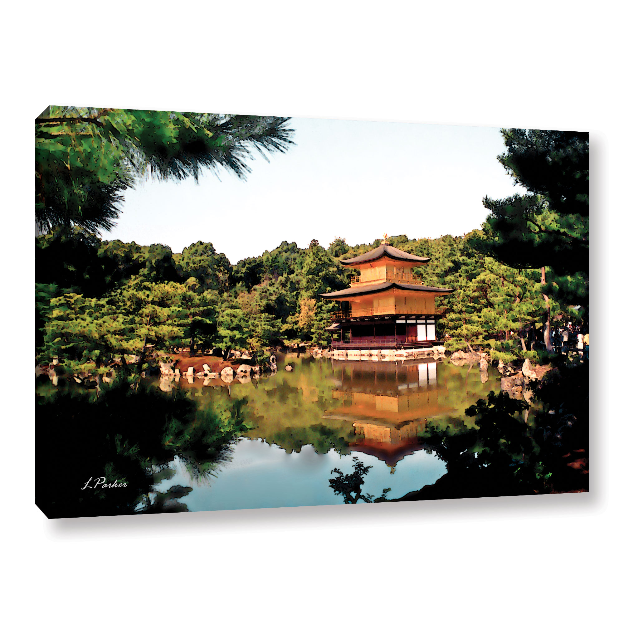 Kinkakuji' Gallery wrapped Canvas Art Print