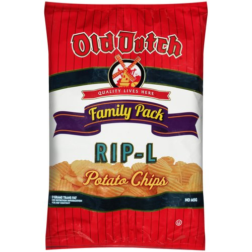 Old Dutch RIP-L Potato Chips Family Pack, 10 Oz.