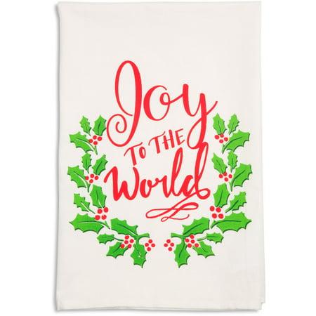 (Pavilion -  Joy to the World Christmas Tea Towel)