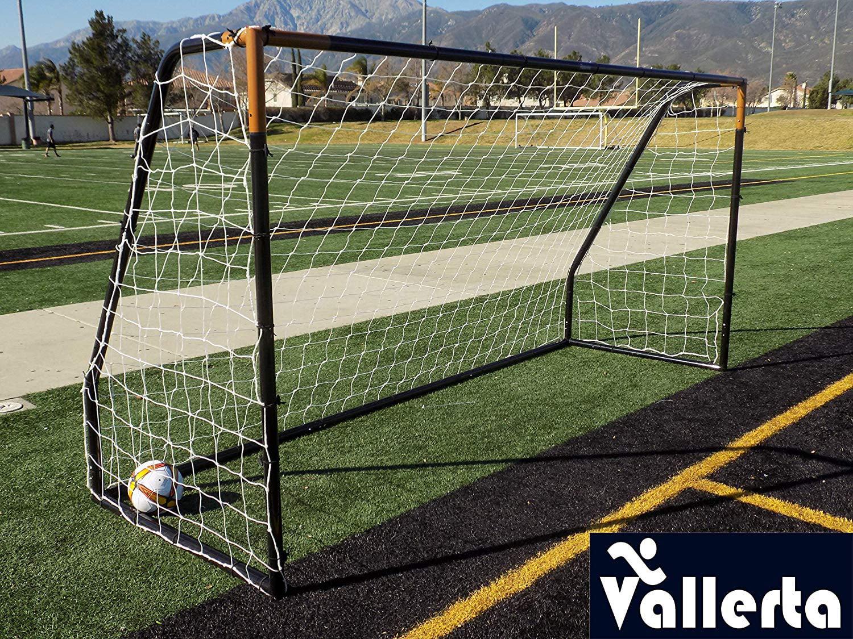 Vallerta® Premier 12 X 6 Ft AYSO Youth Regulation Size Soccer Goal  w Weatherproof 4mm Net. 50MM Diameter Blk Gld Powder Coated Corrosion  Resistant Frame. fa20887f6