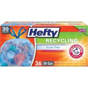 Hefty Recycling Bags, Blue, 30 Gallon, 36 Count