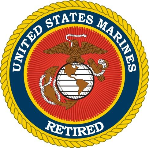8 Inch Marine Corps Retired Decal Sticker