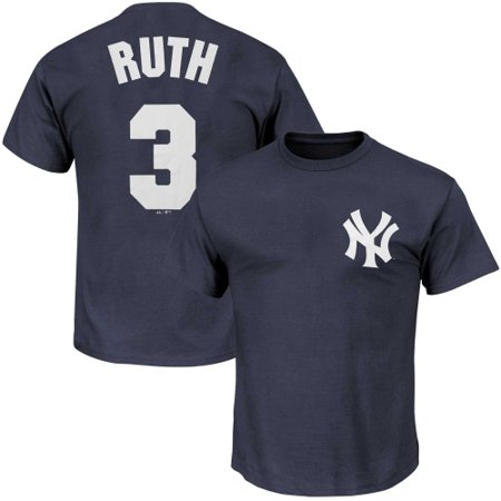Babe Ruth Shirts - Babe Ruth New York Yankees Big & Tall Cooperstown Name & Number T-Shirt - Navy