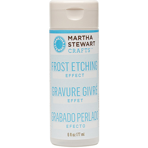 Martha Stewart 32202 6-Ounce Frost Etching Effect Multi-Colored