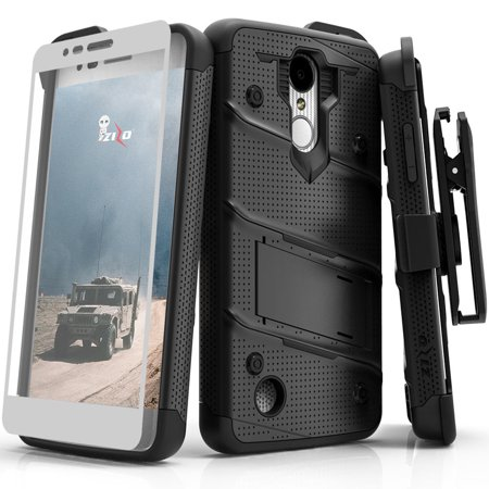 save off 77f5f 8c199 Zizo BOLT Series compatilbe with LG Aristo Case Military Grade Drop Tested  with Tempered Glass Screen Protector Holster LG Fortune
