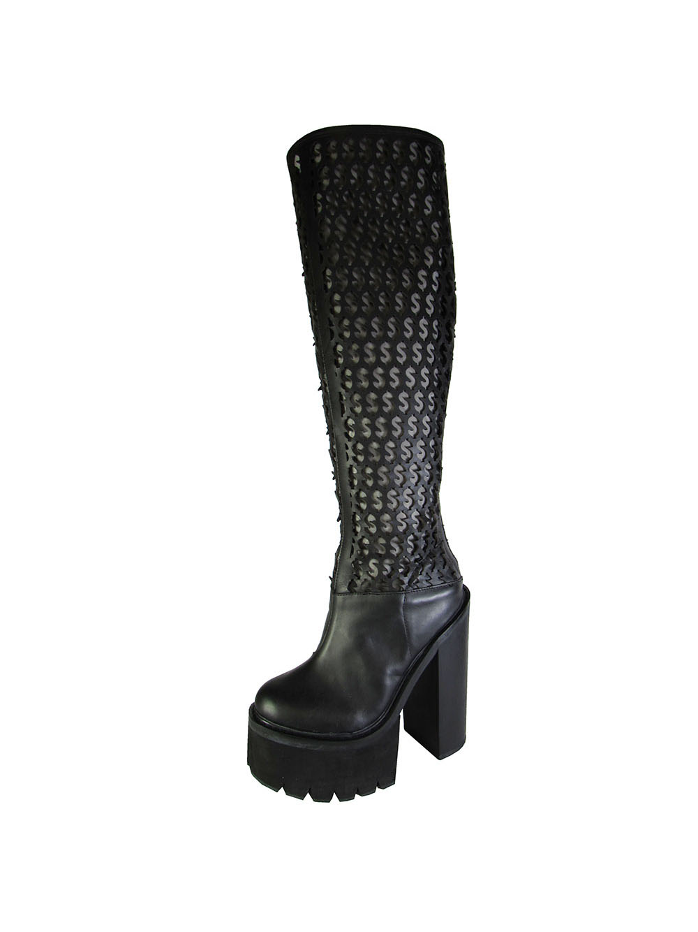 Jeffrey Campbell Womens Mulder-Hi Knee High Boot Shoe