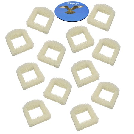 HQRP Pack of 12 Foam Pre-Filter for Stainless Steel 360, Ceramic Avalon, Lotus, Pagoda, Sedona Pet, Multi-Pet Fountains + HQRP