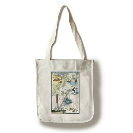 Long Beach Island - Nautical Chart - Lantern Press Poster (100% Cotton Tote Bag - Reusable)