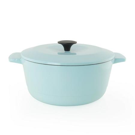 Chantal 5 Quart Cast Iron Oven Safe Dutch Oven Kitchen Cookware, Light