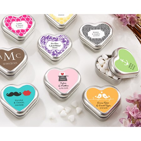 Wedding Mints Bulk (Heart-Shaped Mint Tin - Wedding Favors by Kate)
