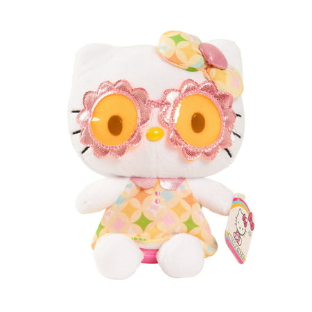 Hello Kitty Bean Plush - Floral - Hello Kitty Beanie