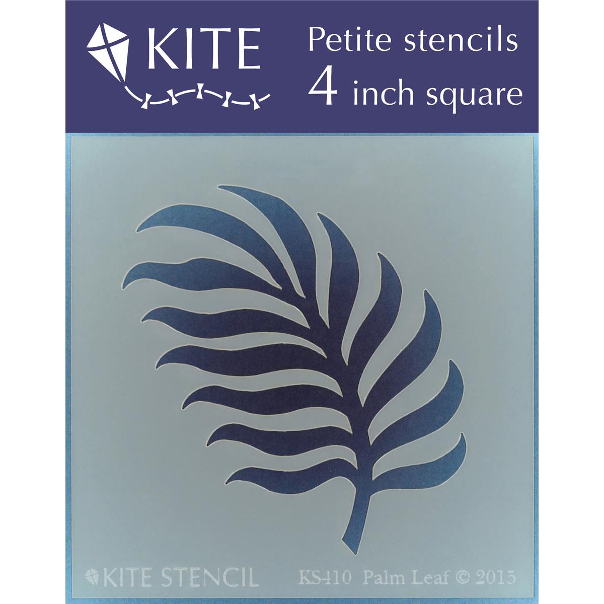 "Judikins Kite Petite Stencil, 4"" Square, Palm Leaf"