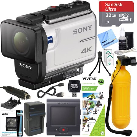 Sony FDR-X3000R 4K Action Camera with Live View Remote + Outdoor Action Kit & Accessory Bundle ()