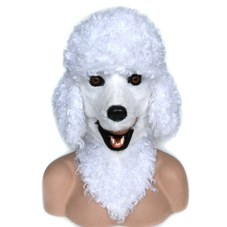 HOMCOM Poodle Dog Costume Mouth Mover - Egyptian Dog Mask