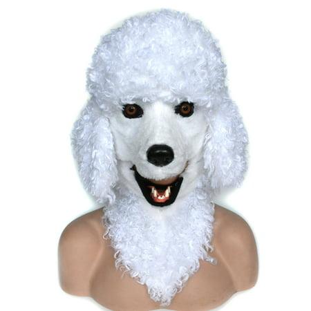 HOMCOM Poodle Dog Costume Mouth Mover Mask (Dog Mask Costume)