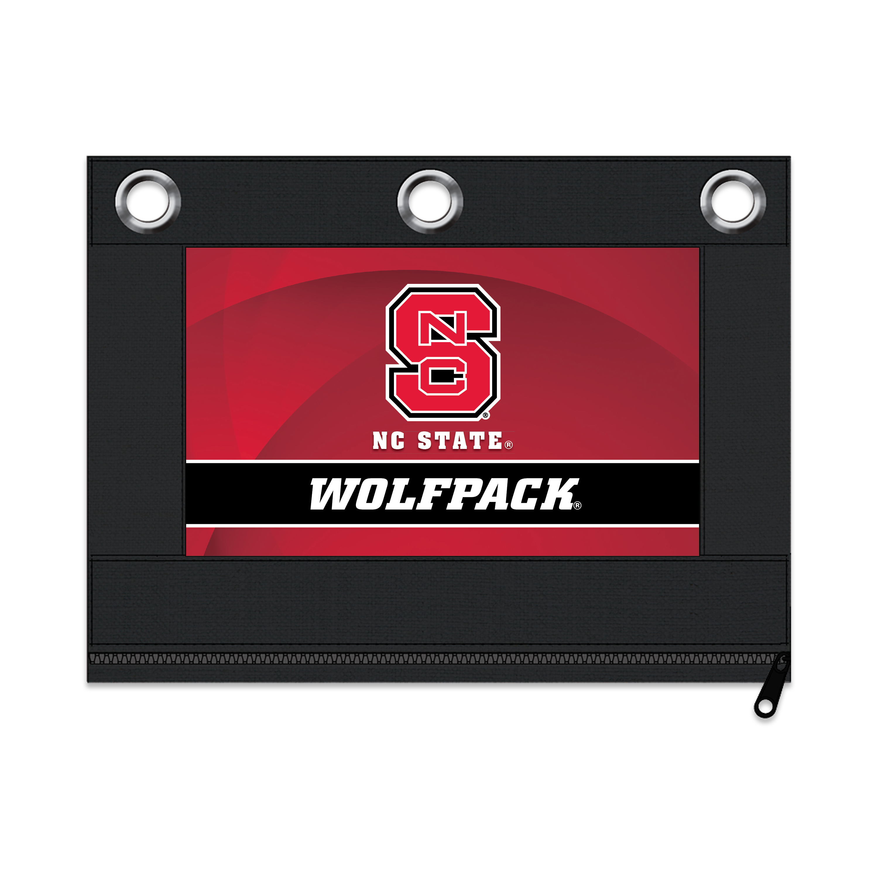 NCAA North Carolina State Wolfpack Zippered Pencil Pouch with Grommets