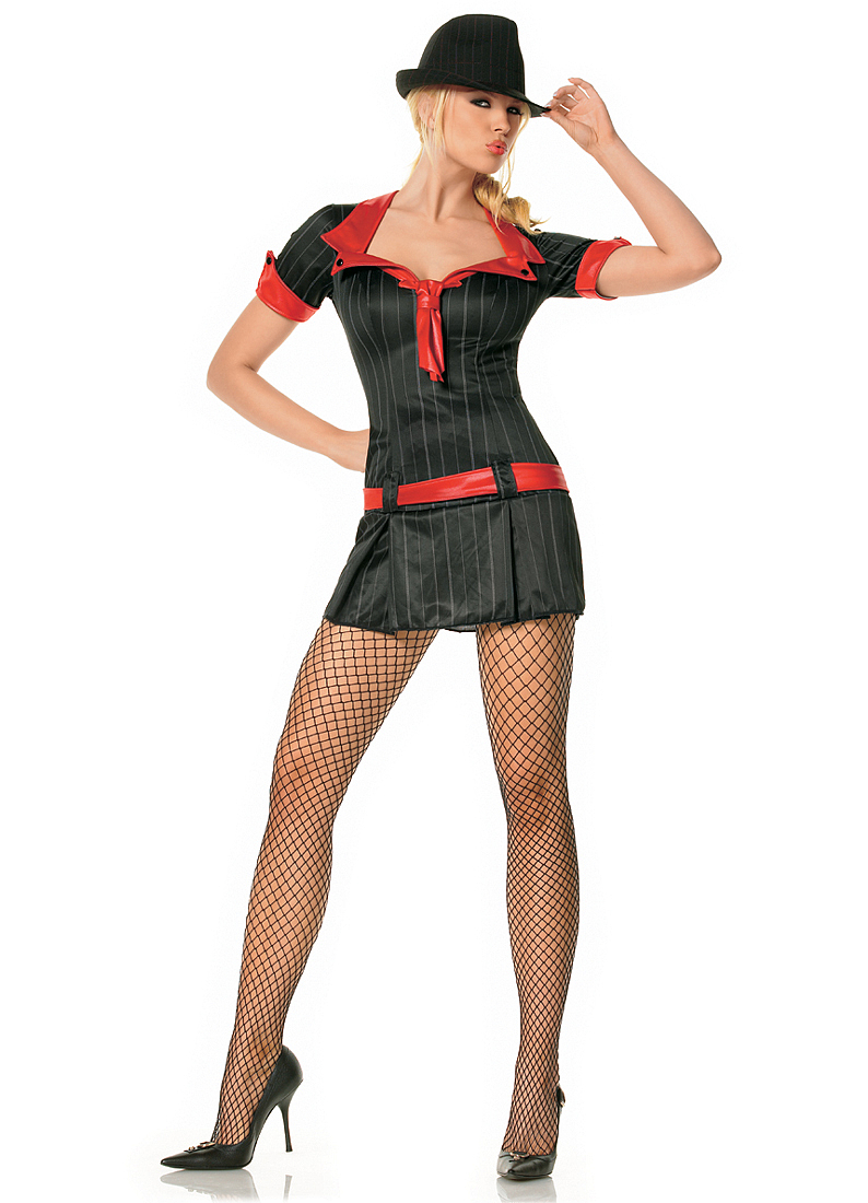 Adult Sexy Lady Gangster Dress Costume Leg Avenue 83183  sc 1 st  Walmart : gangster woman costume  - Germanpascual.Com