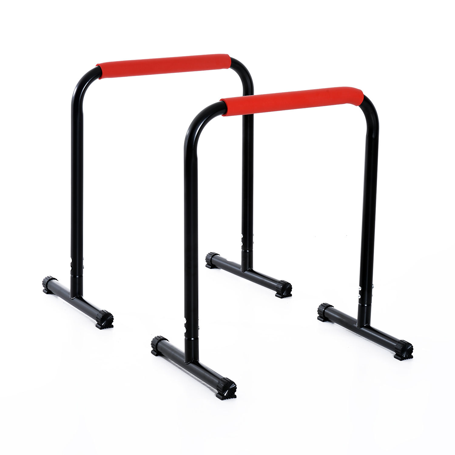 Soozier 29 x 25 Parallette Dip Station Bars - Black