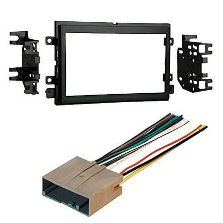ford 2007 - 2010 edge car cd stereo receiver dash install mounting kit wire harness