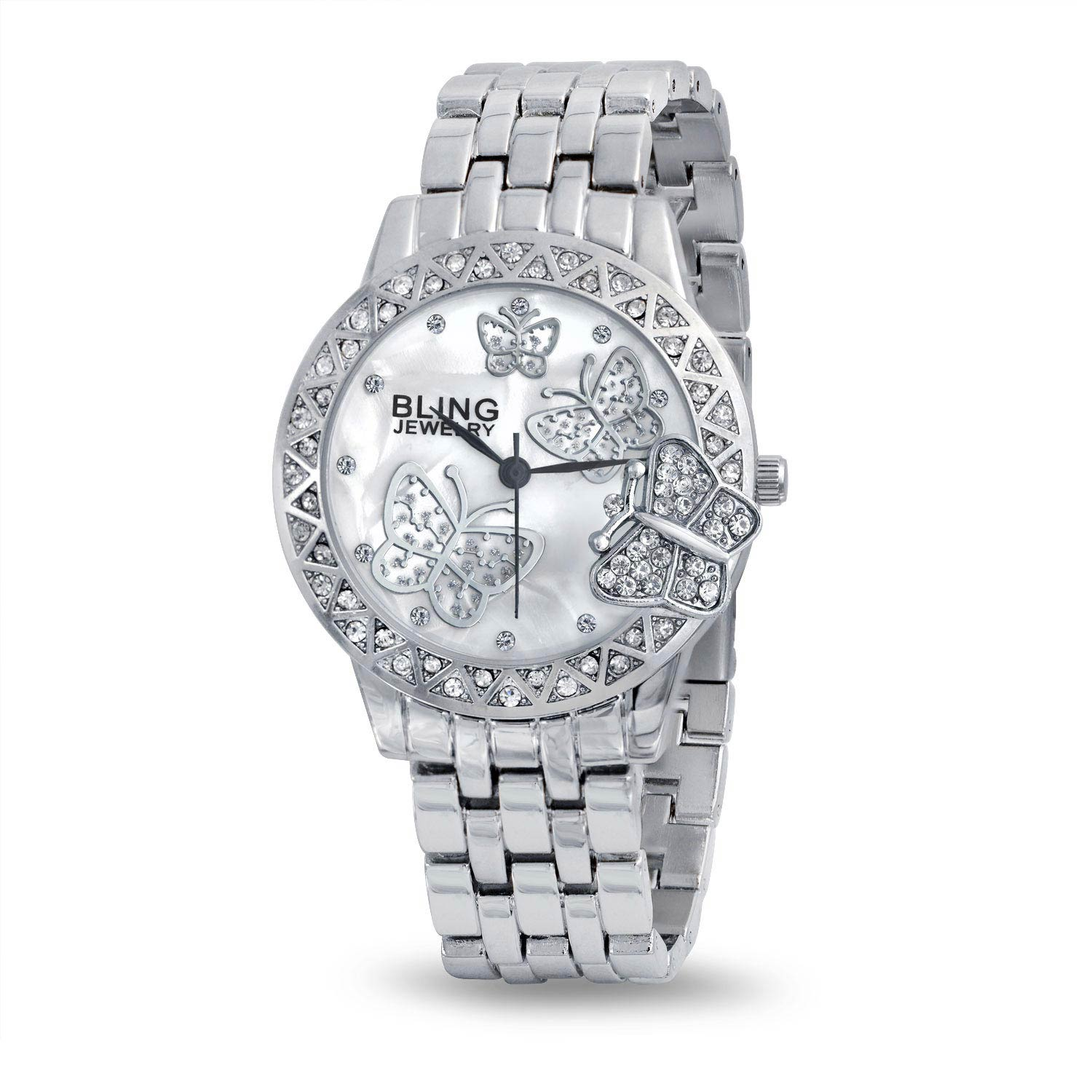 Stainless Steel Back Classic Butterfly Fashion Watch