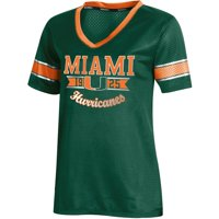 Women's Russell Athletic Green Miami Hurricanes Fashion Jersey V-Neck T-Shirt