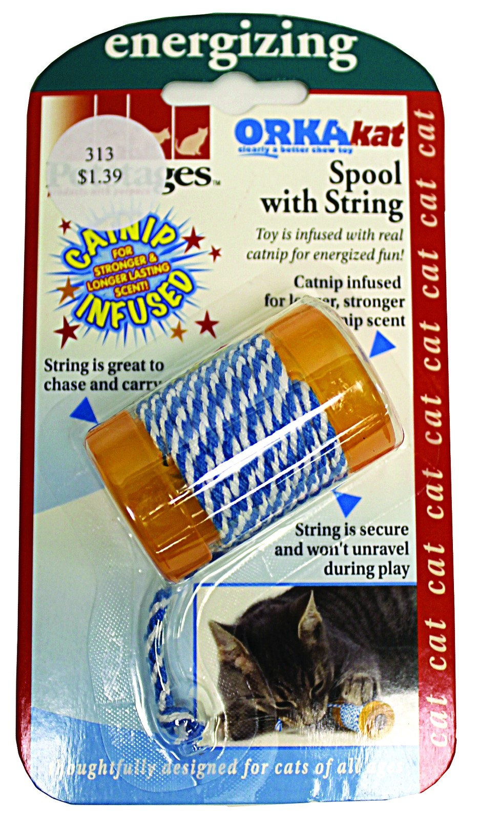 Petstages Catnip Tons Of Tails Cat Toy