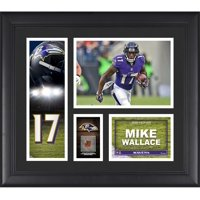 "Mike Wallace Baltimore Ravens Framed 15"" x 17"" Player Collage with a Piece of Game-Used Football"