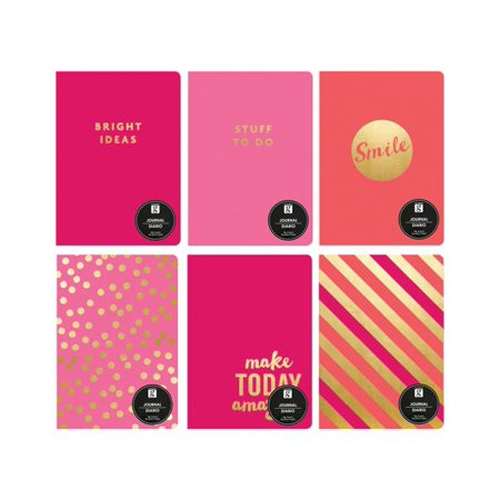 Studio G Stitched Journal Pink 4ea/6 - Bulk Journals