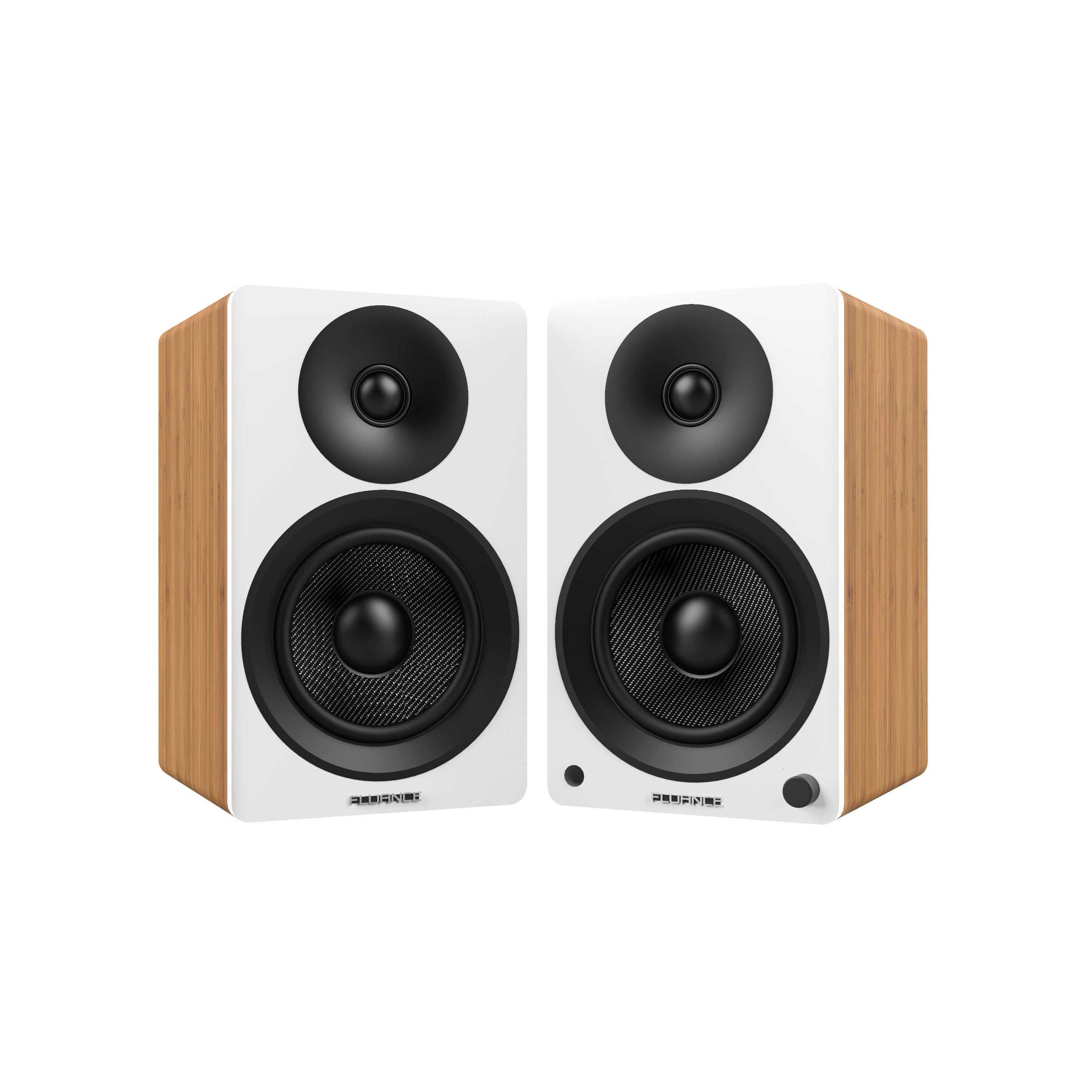Fluance Ai40W Powered Two Way 5 20 Bookshelf Speakers With 70W Class D Amplifier For Turntable PC HDTV Bluetooth AptX Wireless Music Streaming Lucky