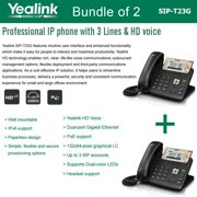 Yealink SIP-T23G 2-UNITS 3-Line HD Professional IP Phone VoIP LCD PoE Gigabit