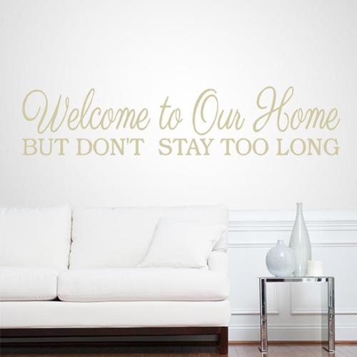 Sweetums Welcome To Our Home 32-inch x 7-inch Entryway Wall Decal