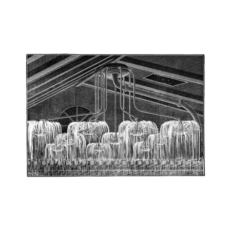 Fire Sprinklers, 19th Century Print Wall Art By Science Photo Library