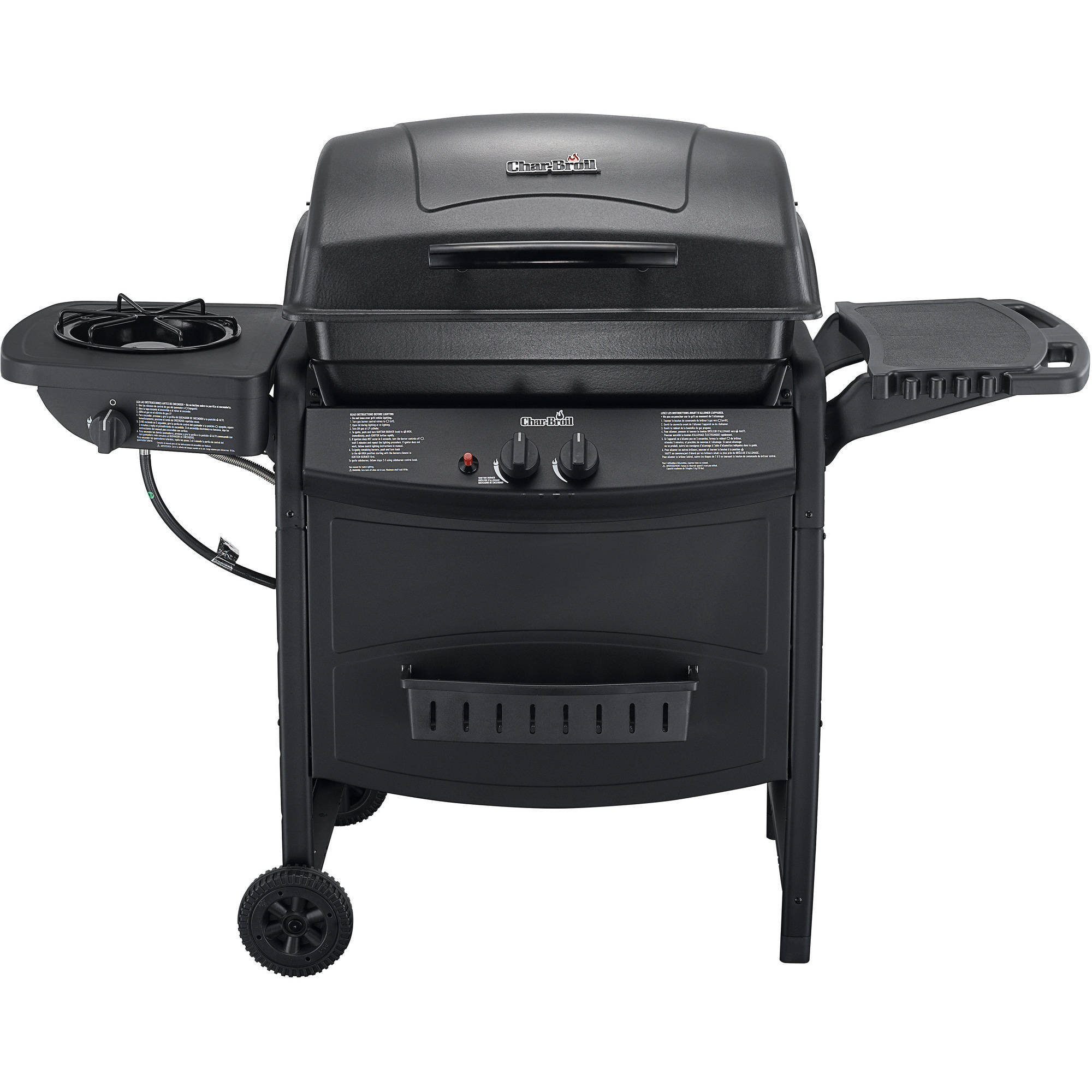 Char-Broil 2-Burner Gas Grill with Side Burner