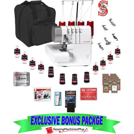 $619 VALUE SINGER® 14CG754 PROFINISH 2-3-4 THREAD SERGER AND BONUS PACK!