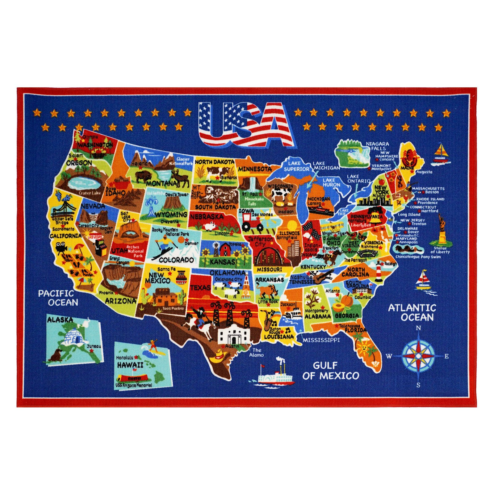 Smithsonian Ultimate USA Map Rug