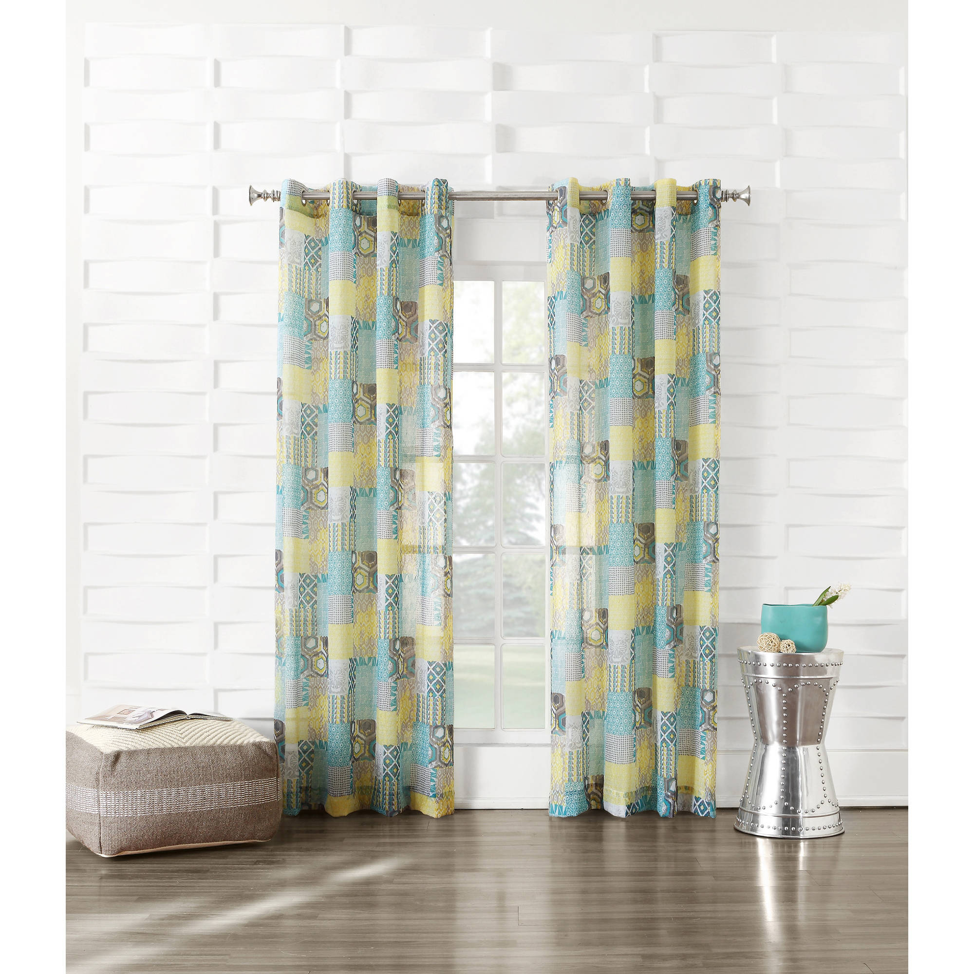 No. 918 Raeleen Crushed Voile Grommet Curtain Panel