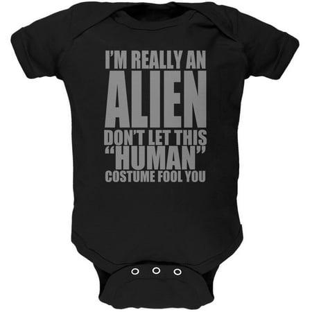 Halloween Human Alien Costume Soft Baby One Piece