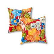 Marlow Floral 17 x 17 in. Outdoor Accent Pillow, Set of 2