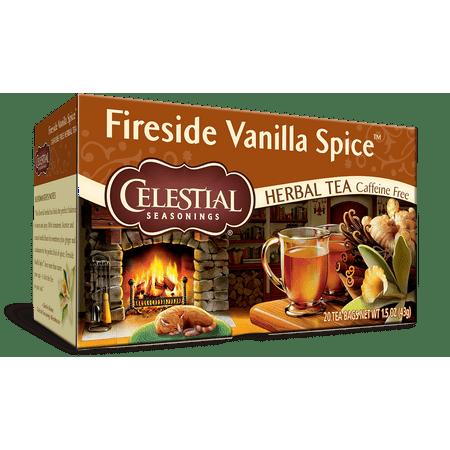 Celestial Seasonings Herbal Tea, Fireside Vanilla Spice, 20 Count