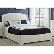 White Truffle Leather Headboard Platform Bed Set King Leather Headboard Platform Bed Set